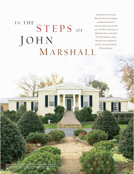 In the Footsteps of John Marshall
